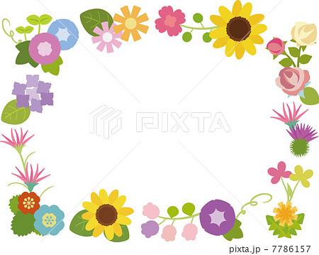 いろいろな花のフレーム 7786157