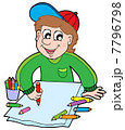 Boy with crayons 7796798