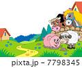 動物 ひつじ ヒツジのイラスト 7798345