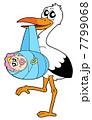 赤ちゃん こうのとり コウノトリのイラスト 7799068