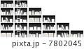 ベクター 本棚 棚のイラスト 7802045