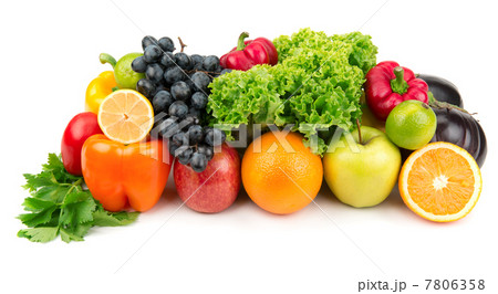 set of different fruits and vegetables 7806358