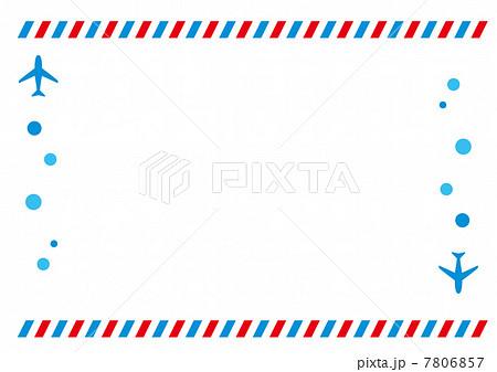 カード カード フレーム 無料 : エアメール 飛行機のイラスト ...