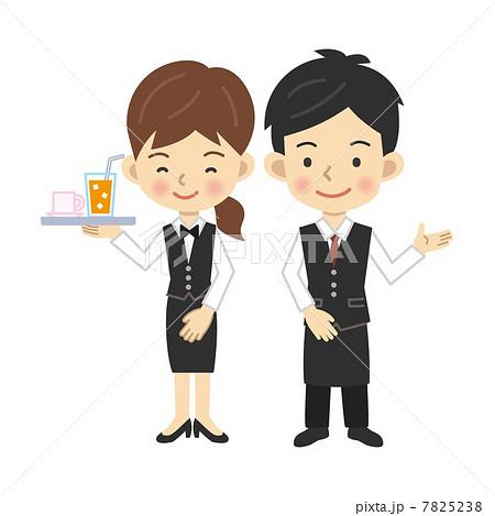 接客業の男女のイラスト素材 7825238 Pixta