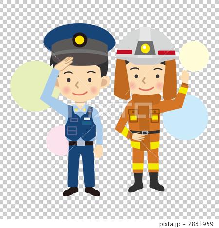 警察和消防員 7831959