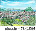 萩市街遠望 7841596