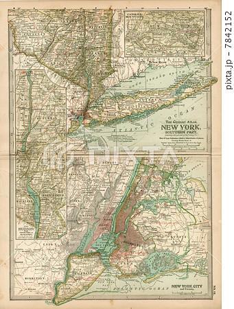 20世紀初頭古地図「ニューヨーク」 7842152