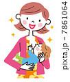 母乳 授乳 お母さんのイラスト 7861064