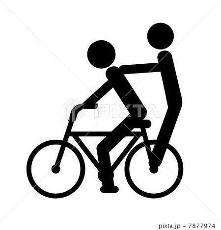自転車の二人乗りのイラスト ...