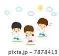 マラソン 体育 小学生のイラスト 7878413