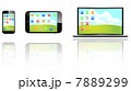 スマートフォン モニタ スマフォのイラスト 7889299