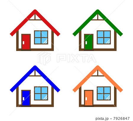 平屋の可愛い家のイラスト素材 7926847 Pixta