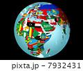 国旗 グローバル 世界地図のイラスト 7932431