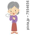 インフルエンザ 咳 風邪のイラスト 7934656