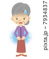 腹痛 痛い 胃痛のイラスト 7934837