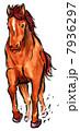 午 午年 馬のイラスト 7936297