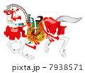 午 年賀状素材 神馬のイラスト 7938571