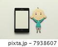 お年寄り 携帯電話 スマートフォンの写真 7938607