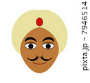 インド人 ターバン 外国人のイラスト 7946514