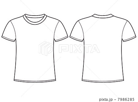 blank t shirt templateのイラスト素材 7986285 pixta
