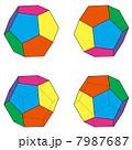 4つのパターンの正十二面体セット 7987687