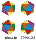 4つのパターンの正二十面体セット 7990128