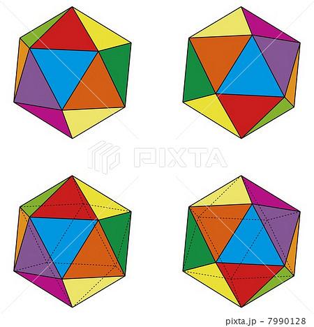 4つのパターンの正二十面体セッ...