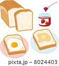 バターを塗った食パンと目玉焼きを乗せたトースト 8024403