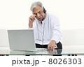 ラップトップ 老人 男性の写真 8026303