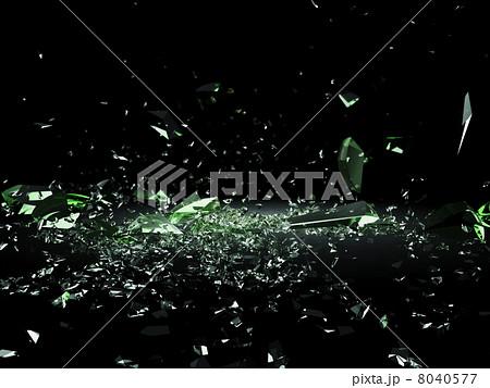砕け散るガラス 8040577