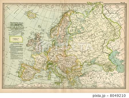 20世紀初頭古地図「ヨーロッパ」 8049210