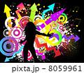 ダンサー ダンス 踊るのイラスト 8059961