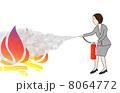 ビジネスウーマンの消火活動 8064772
