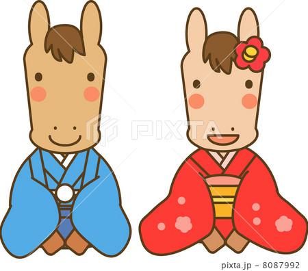 着物姿の馬 8087992