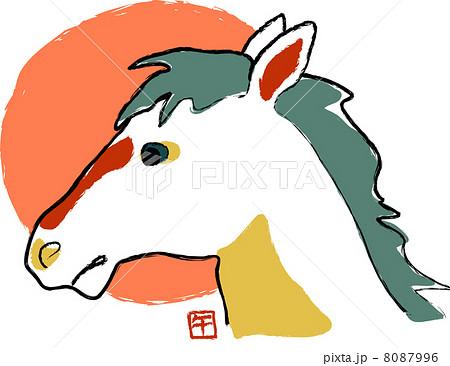 和風の馬の顔 8087996
