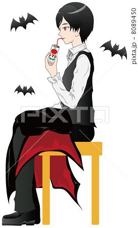 ヴァンパイア 男子 トマトジュースのイラスト素材 8089450 Pixta