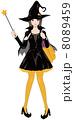 仮装 魔女 ハロウィンのイラスト 8089459