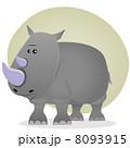 Cute Cartoon Rhino 8093915