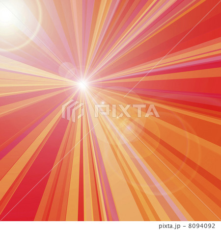 赤い放射と光のフレア 8094092