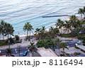 パシフィックビーチホテルから望む早朝のワイキキビーチ 8116494