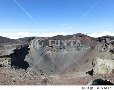 富士山の火口と火口底 8154847