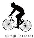 サイクリング 男性 自転車のイラスト 8158321