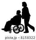 介護 人物 シルエットのイラスト 8158322