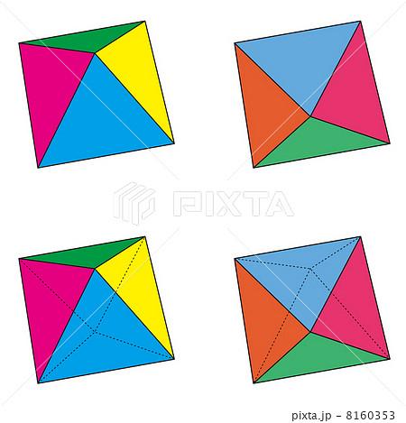4つのパターンの正八面体セット 8160353