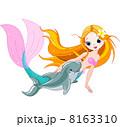 いるか イルカ 海豚のイラスト 8163310