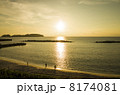 夕焼け 本村前浜海岸 海の写真 8174081