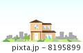 住宅 ベクター 家のイラスト 8195899