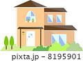 ベクター 住宅 家のイラスト 8195901