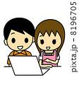 コンピューター ノートパソコン パソコンのイラスト 8196705