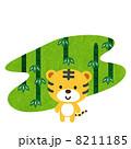 トラと竹  8211185